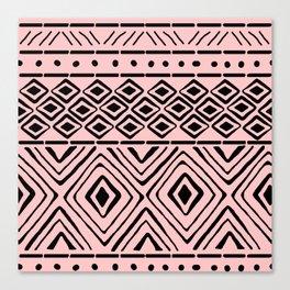 African Mud Cloth // Pink Canvas Print