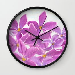 Spring Lilac Flowers Wall Clock