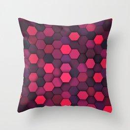 Geometric bright polygonal pattern  Throw Pillow