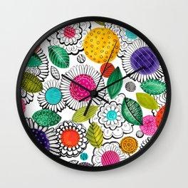 Floral Fun Wall Clock