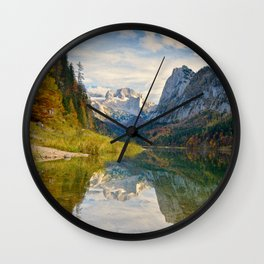 Gosausee in autumn Wall Clock