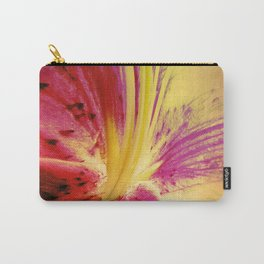 Abstract Of The Lily Carry-All Pouch