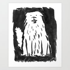 fluffy dog Art Print