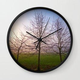 Foggy Morning at Green Lake (Seattle, WA) Wall Clock