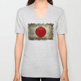 National flag of Japan - Super Grunge Unisex V-Neck