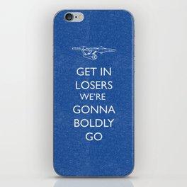 Boldly go iPhone Skin