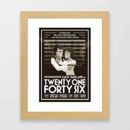 Twenty-One Forty-Six Framed Art Print