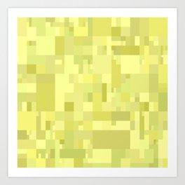 light yellow mosaic art Art Print