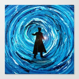 Doctor Inside Time Vortex Canvas Print
