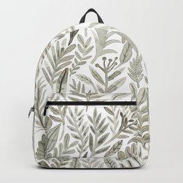 Grey Botanical Backpack