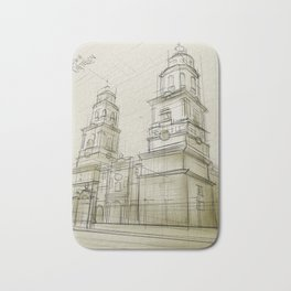 The cathedral of Morelia Bath Mat