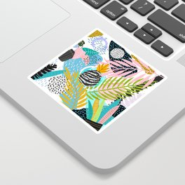 abstract palm leaves Sticker