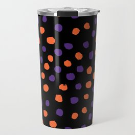 Orange and purple clemson polka dots university college alumni football fan gifts Travel Mug