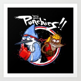 Let's Play PUNCHIES!! Art Print