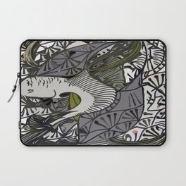 Shallow River Young Leaves Laptop Sleeve