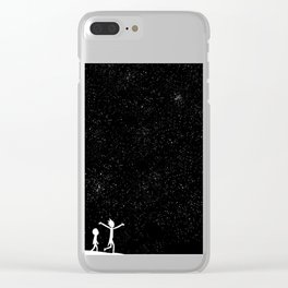 Rick and Morty - Star Viewing Clear iPhone Case