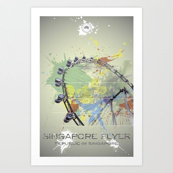 Singapore Flyer Abstract Art Print