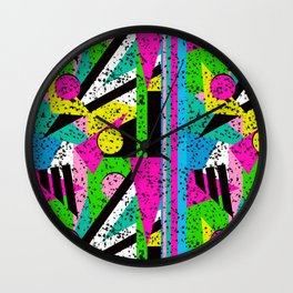 80's Shape Splatter Wall Clock