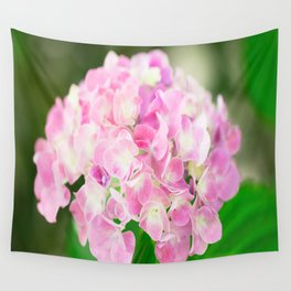 Pink Blossom Hydrangea Wall Tapestry