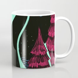 Through the Mountains at Night Coffee Mug