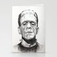 frankenstein Stationery Cards featuring Frankenstein by calibos