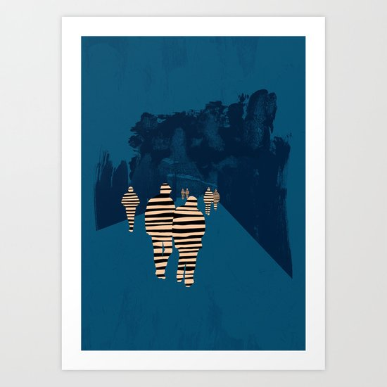 walking for oblivion Art Print