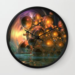 light and reflection Wall Clock