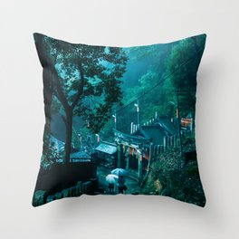 Fushimi Inari Taisha shrine Kyoto Throw Pillow