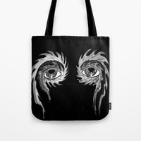 tool Tote Bags featuring Tool eyes by SnowVampire