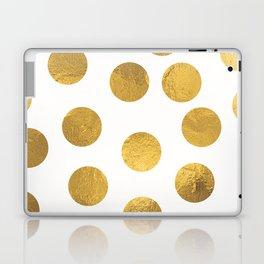 Gold Foil Polka Dots Laptop & iPad Skin
