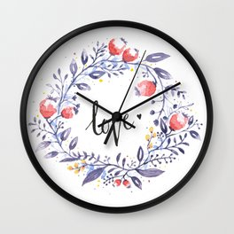Show Your Love Wall Clock