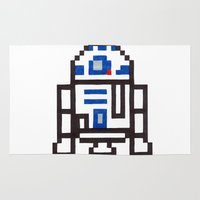 r2d2 Area & Throw Rugs featuring r2d2 by Walter Melon
