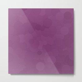Wood Violet Bubble Dot Color Accent Metal Print