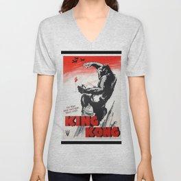 Vintage 1933 Version of RKO's King Kong Movie Cinema Poster Wall Art Unisex V-Neck