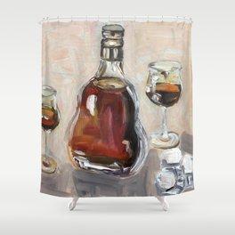 Cognac, alcohol, original oil painting Shower Curtain