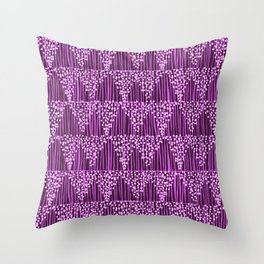 Dots + Stripes - Orchid Throw Pillow