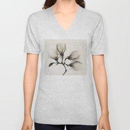 Magnolia Branch X-Ray Vintage Photo Unisex V-Neck
