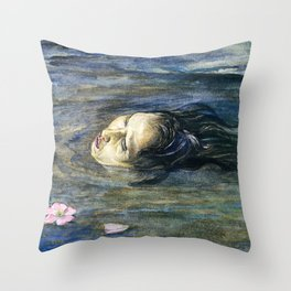 John La Farge - The Strange Thing Little Kiosai Saw in the River - Digital Remastered Edition Throw Pillow
