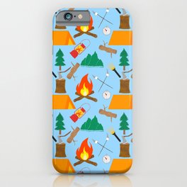 Let's Explore The Great Outdoors - Light Blue iPhone Case
