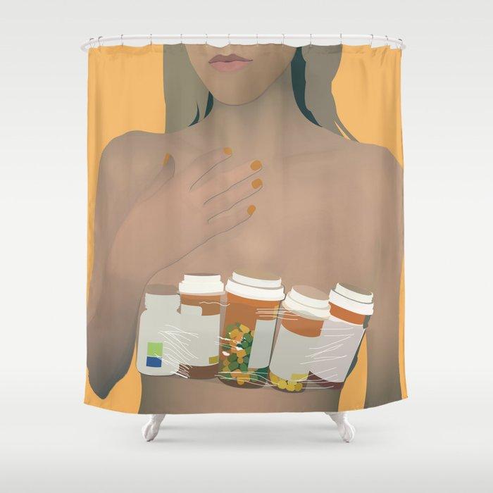 Digital Druglord Blackbear Shower Curtain By Apparentlyvintage