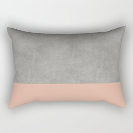 Concrete Colorblock Rectangular Pillow
