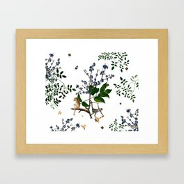 Monkey World: Apy and Vinnie - White Framed Art Print