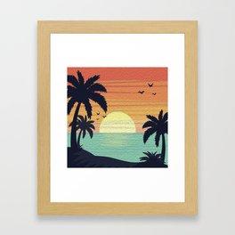Tropical Bliss Framed Art Print