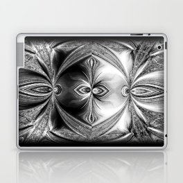 Abstract Peacock. Black+White. Laptop & iPad Skin