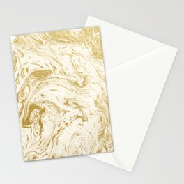 Gold marble design pattern Stationery Cards