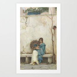 John William Waterhouse,  Day Dreams Art Print
