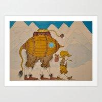 journey Art Prints featuring Journey by Liz Hermanson