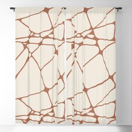 Cavern Clay SW 7701 Abstract Mosaic Pattern 1 on Creamy Off White SW7012 Blackout Curtain