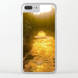 Sunset in Natural Bridge Clear iPhone Case