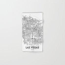 Minimal City Maps - Map Of Las Vegas, Nevada, United States Hand & Bath Towel